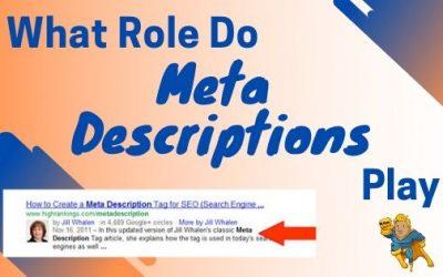 What Role Do Meta Descriptions Play